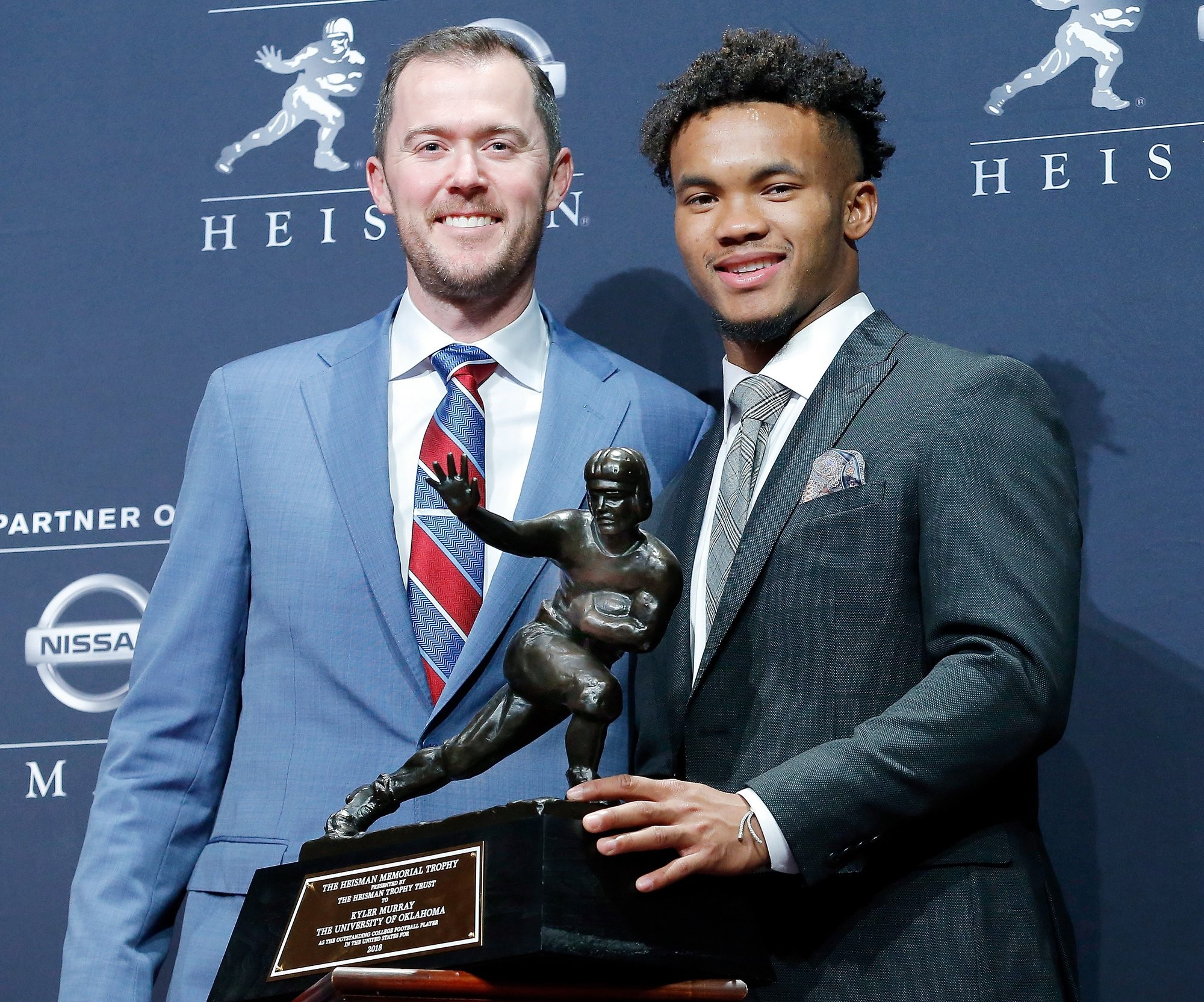 Kyler Murray and Lincoln Riley