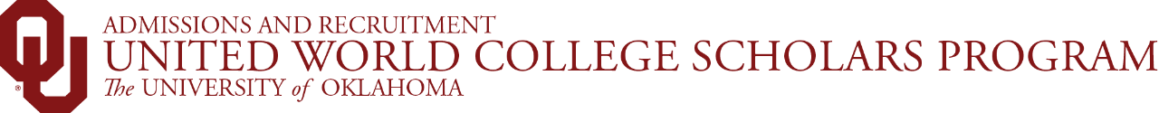 Admissions and Recruitment, United World College Scholars Program, The University of Oklahoma website wordmark