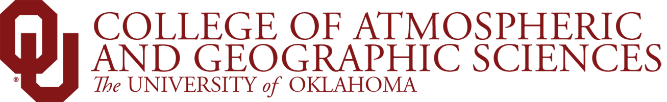 College of Atmospheric and Geographic Sciences, The University of Oklahoma website wordmark