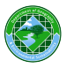 Circular logo in shakes of blue and green with images of urban and physical geography against a grid background representing GIS. Department of Geography and Environmental Sustainability.