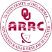 Red and white circular logo, with an illustration of a radar dish and the OU Logo. OU. ARRC. The University of Oklahoma. Advanced Radar Research Center.