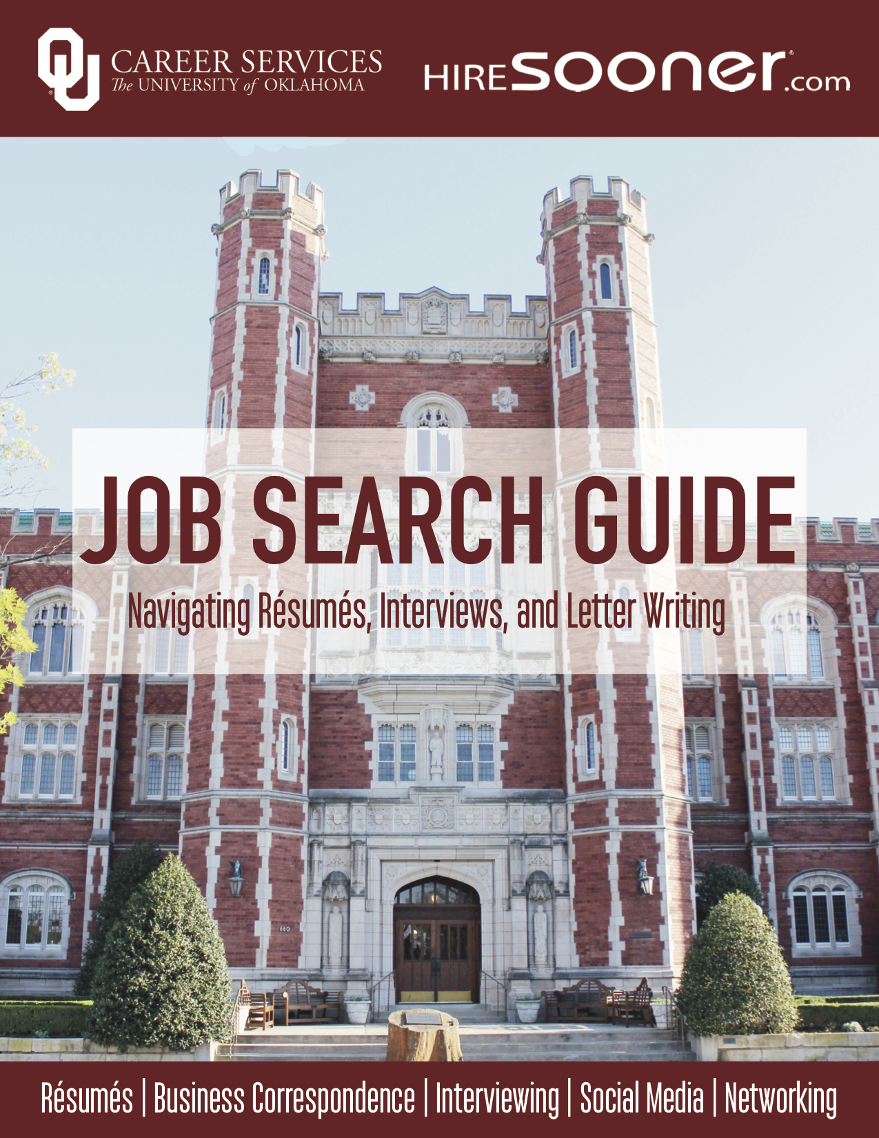 OU Career Services Job Search Guide Cover Image: Navigating Resumes, Interviews, and Letter Writing (jpg)