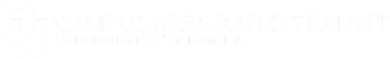 Serving the University of Oklahoma and the Norman Community, Cleveland Area Rapid Transit, The University of Oklahoma website wordmark