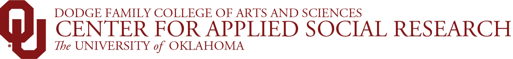 Center for Applied Social Research, The University of Oklahoma website wordmark