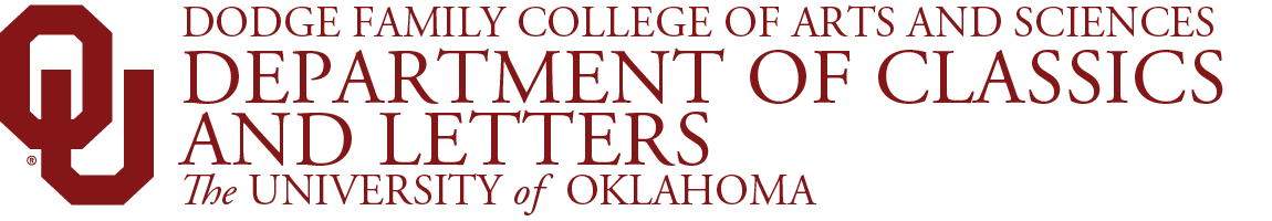College of Arts and Sciences, Department of Classics and Letters, The University of Oklahoma website wordmark