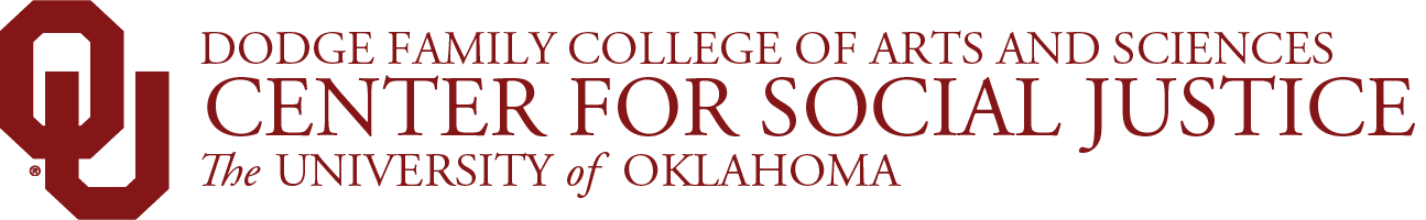 Department of Women's and Gender Studies, Center for Social Justice, The University of Oklahoma website wordmark