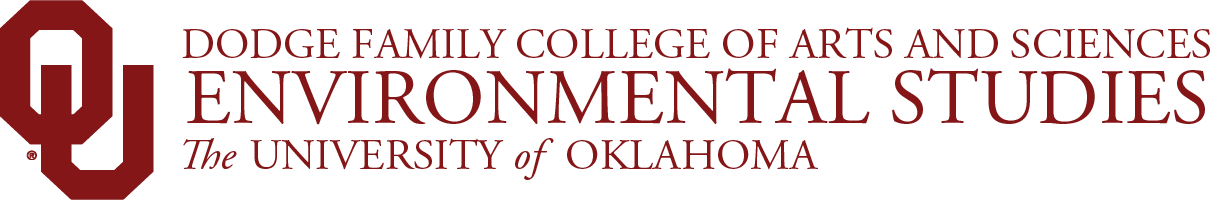 College of Arts and Sciences, Department of Environmental Studies, The University of Oklahoma website wordmark