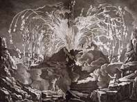 Artistic depiction of the eruption of Mt. Vesuvius