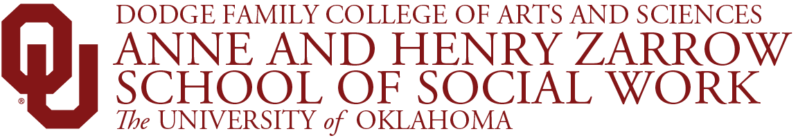 College of Arts and Sciences, Anne and Henry Zarrow School of Social Work, The University of Oklahoma website wordmark