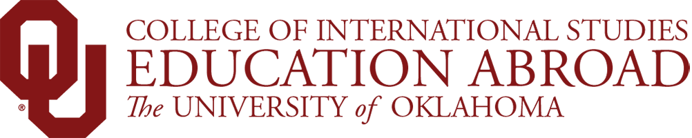 College of International Studies, Education Abroad, The University of Oklahoma website wordmark