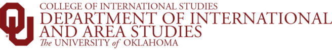 department of international and area studies website wordmark
