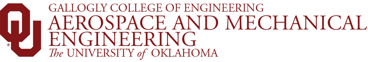 Gallogly College of Engineering, Aerospace and Mechanical Engineering, The University of Oklahoma website wordmark
