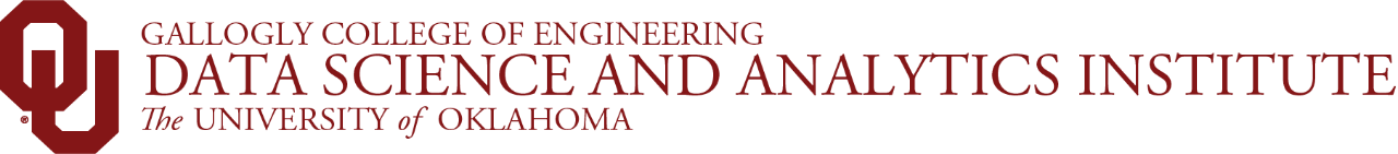 Gallogly College of Engineering, Data Science and Analytics Institute, The University of Oklahoma website wordmark