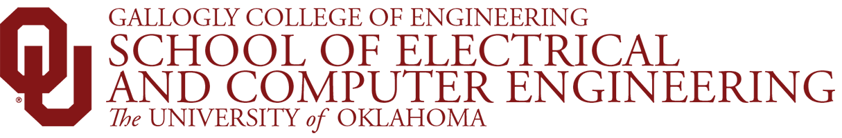 Gallogly College of Engineering, School of Electrical and Computer Engineering, The University of Oklahoma website wordmark