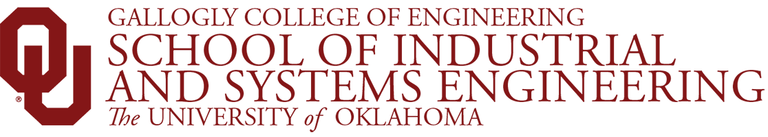 Gallogly College of Engineering, School of Industrial and Systems Engineering, The University of Oklahoma website wordmark