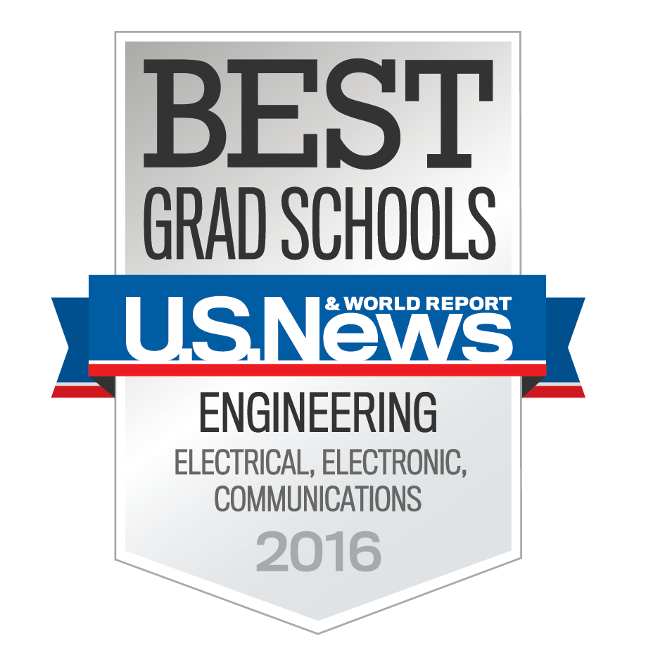 Elec, Comms 2016 US News Best Grad Schools Badge