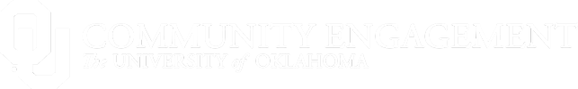 OU Community Engagement, The University of Oklahoma website wordmark