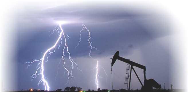 Oil Well in a Lightning Storm