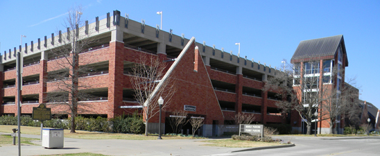 Elm Avenue Parking Facility has 576 spaces for commuters, faculty and staff.