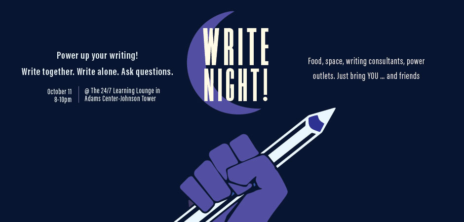 Write Night with the OU Writing Center and Residence Life