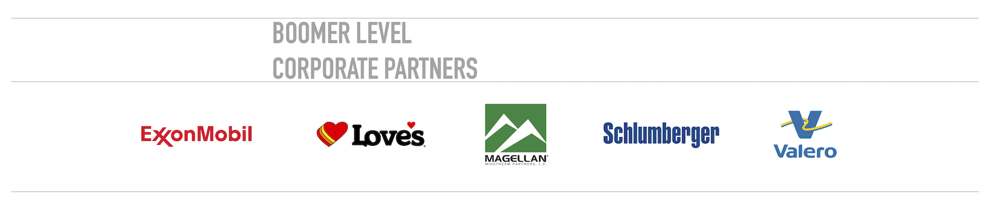 Thank You to Our Boomer Level Corporate Partners