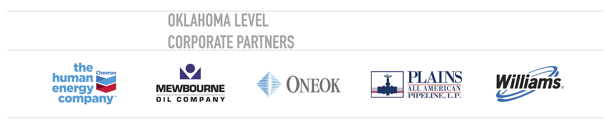 Thank You to Our Oklahoma Level Corporate Partners