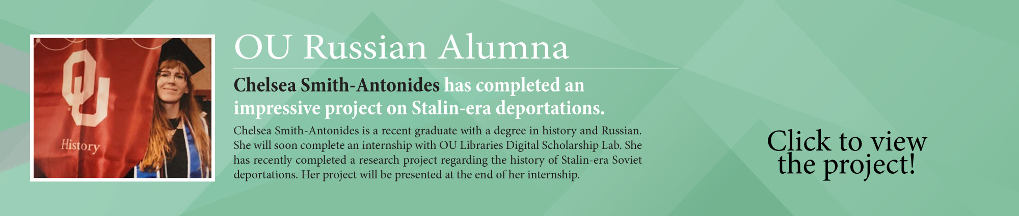 Chelsea Smith-Antonides' digital project on Stalin-era deportations.