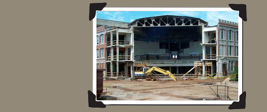 The transformation from Holmberg Hall to The Donald W. Reynolds Performing Arts Center