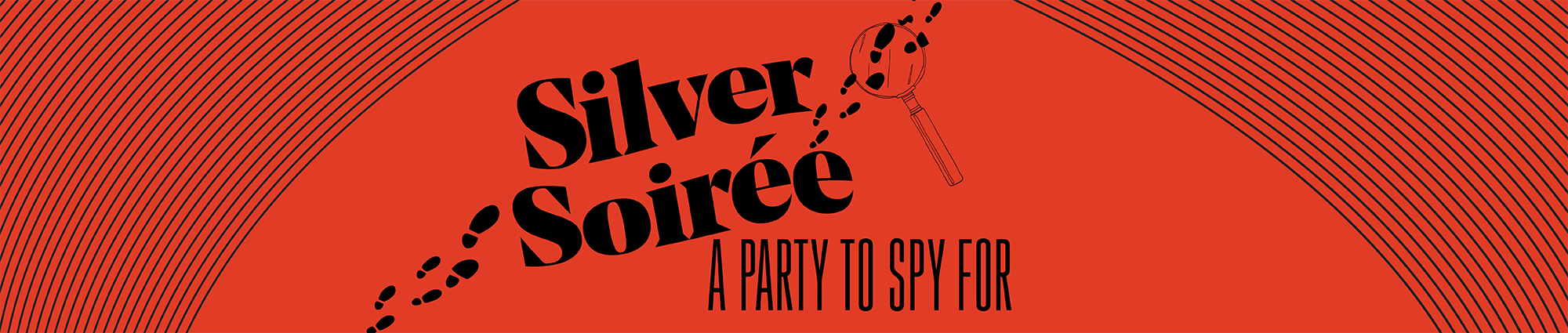 silver soiree banner