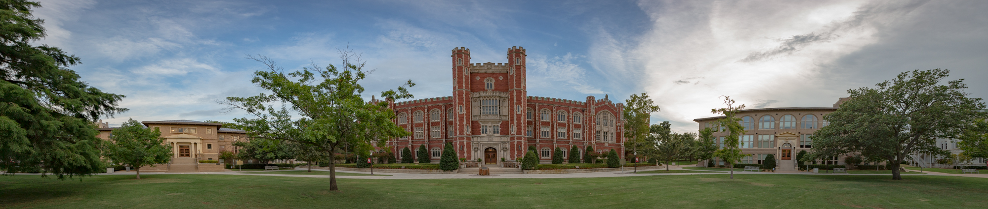 Panorama of buildings on South Oval