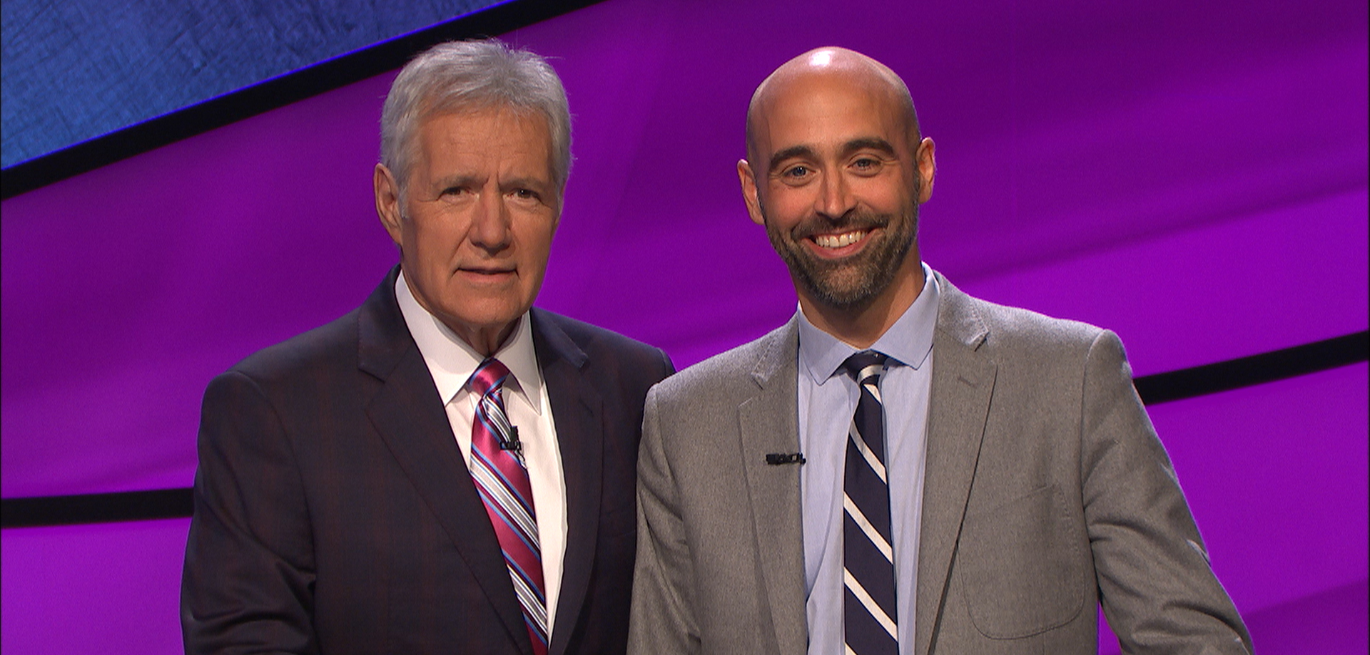 Kevin Butterfield with Alex Trebek