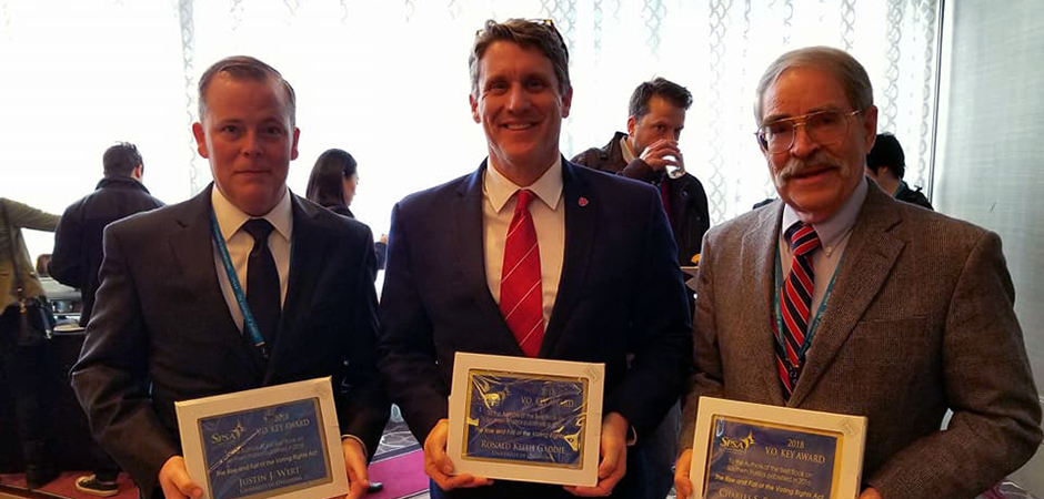OU professors Justin Wert and Keith Gaddie receive V.O. Key Award
