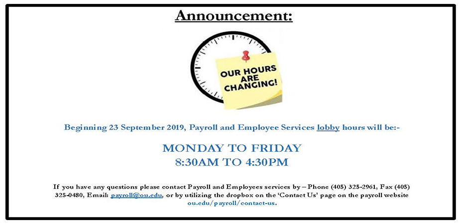 New Payroll Hours