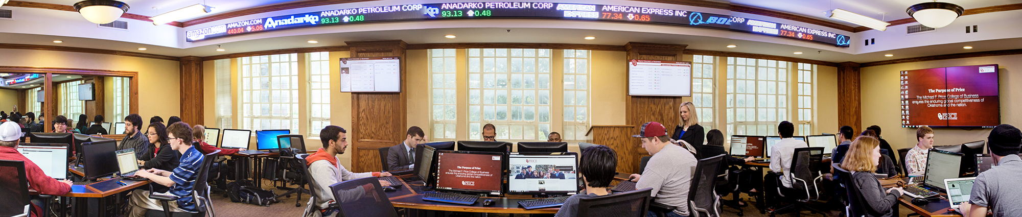 Ticker Room at Price College