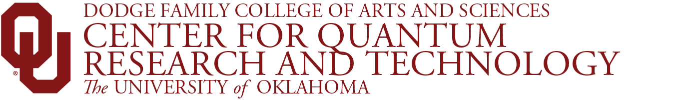 Center for Quantum Research and Technology, The University of Oklahoma website wordmark