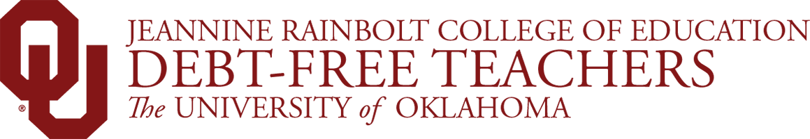 Jeannine Rainbolt College of Education Debt-Free Teachers, The University of Oklahoma website wordmark