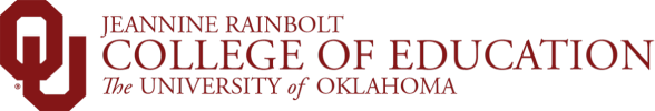 Jeannine Rainbolt College of Education, The University of Oklahoma website wordmark