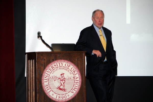 Robert Putnam standing at Podium