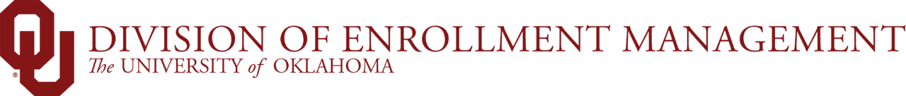 OU Division of Enrollment Management, The University of Oklahoma website wordmark