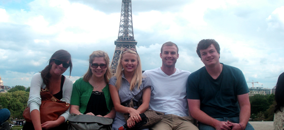Students studying abroad in Paris take in the sights.