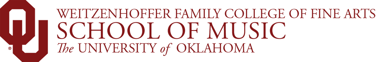 Weitzenhoffer Family College of Fine Arts, School of Music,The University of Oklahoma website wordmark