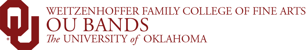 Weitzenhoffer Family College of Fine Arts, OU Bands,The University of Oklahoma website wordmark