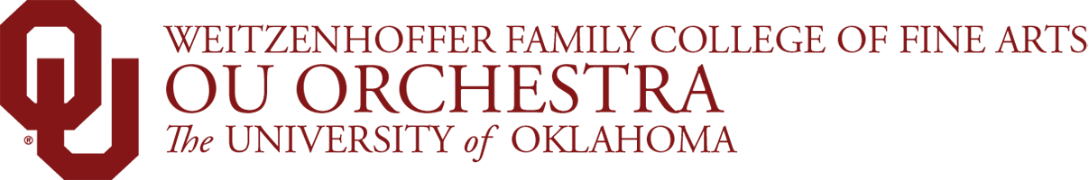 Weitzenhoffer Family College of Fine Arts, OU Orchestra,The University of Oklahoma website wordmark