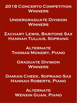 Concerto Competition Winners - November 2018