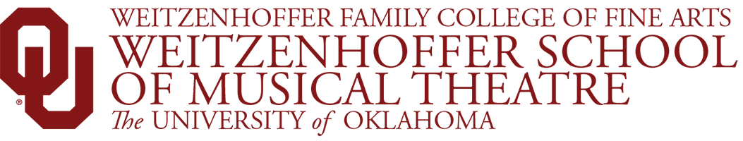 Weitzenhoffer Family College of Fine Arts, Weitzenhoffer School of Musical Theatre, The University of Oklahoma website wordmark