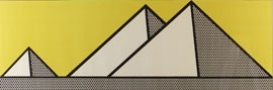 serigraph, 3 pyramids, two-toned