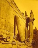 yellow toned, temple of jupiter, falling apart
