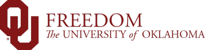 Freedom, The University of Oklahoma website wordmark