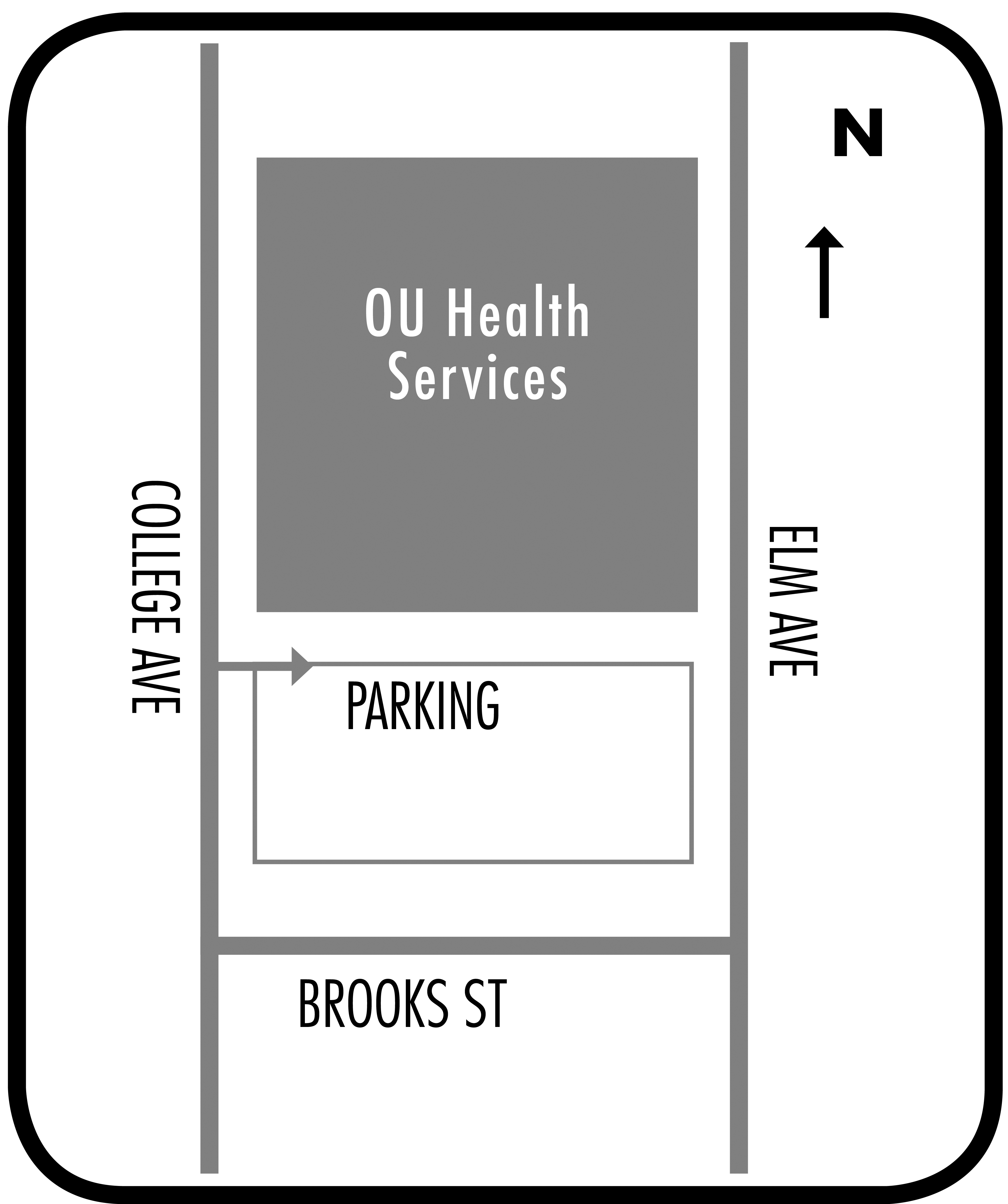 OUHS is located on the corner of Elm Avenue and Brooks Street.
