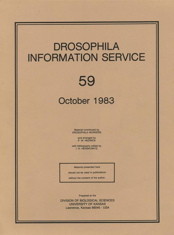 DROSOPHILA INFORMATION SERVICE